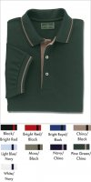 Men's Stripe Trim Pique Polo Shirts