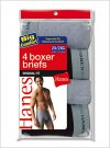 Hanes Mens Boxer Briefs 100% Cotton
