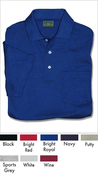 Men's Discount Cotton Pique Pocket Polo Shirt