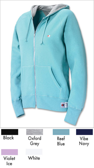 Champion Womens Full Zip Hoodie Jacket