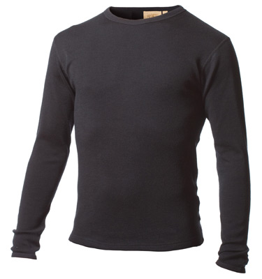 Mens Medium Weight 100% Merino Wool Thermal Underwear Top