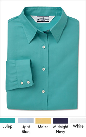 Women's Silky Cotton Dobby Twill Dress Shirt