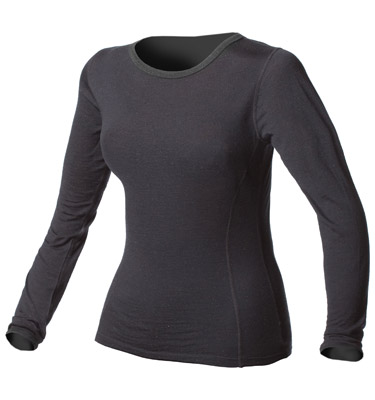 Womens Medium Weight 100% Merino Wool Thermal Underwear Top