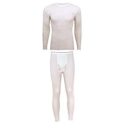100% Cotton Midweight Waffle Knit Thermal Underwear