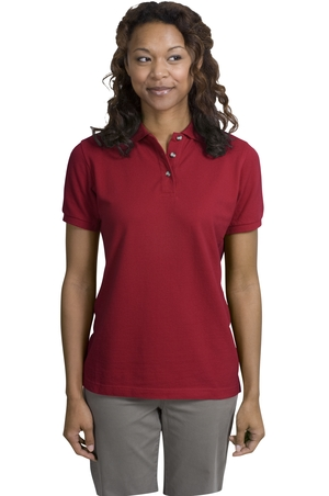 Ladies Cotton Pique Knit Polo Shirt