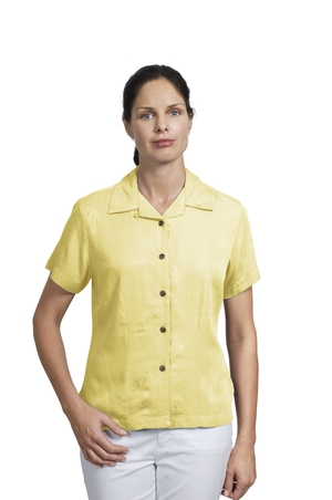 Ladies Palm Tree Jacquard Golf Shirt