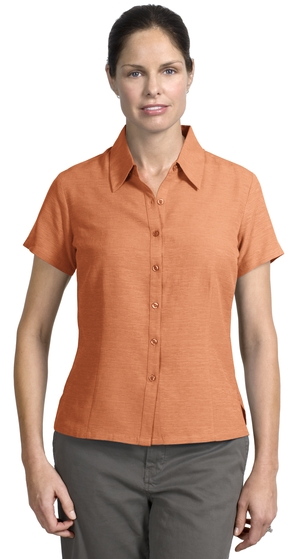 Ladies 100% Silk Button Up Athletic Shirt