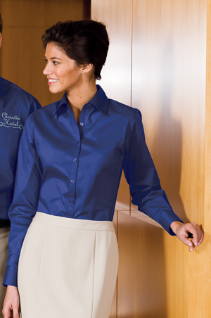 Port Authority® - Ladies Lightweight Stretch Poplin Shirt.