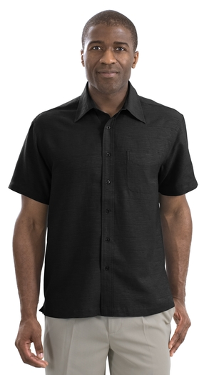 Mens 100% Silk Golf Shirt