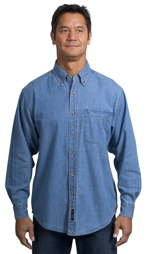 Port Authority® - Long Sleeve Denim Shirt. S600.