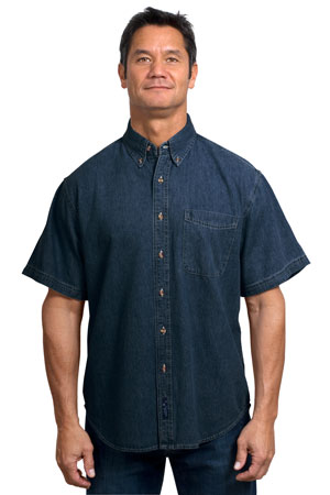 Port & Company® - Short Sleeve Value Denim Shirt. SP11.
