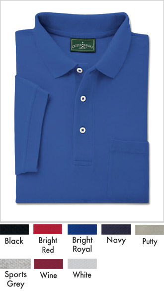 Mens Shrink Free Cotton Pocket Polo Shirts