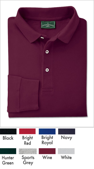 Mens Cotton Long-Sleeve Golf Shirts