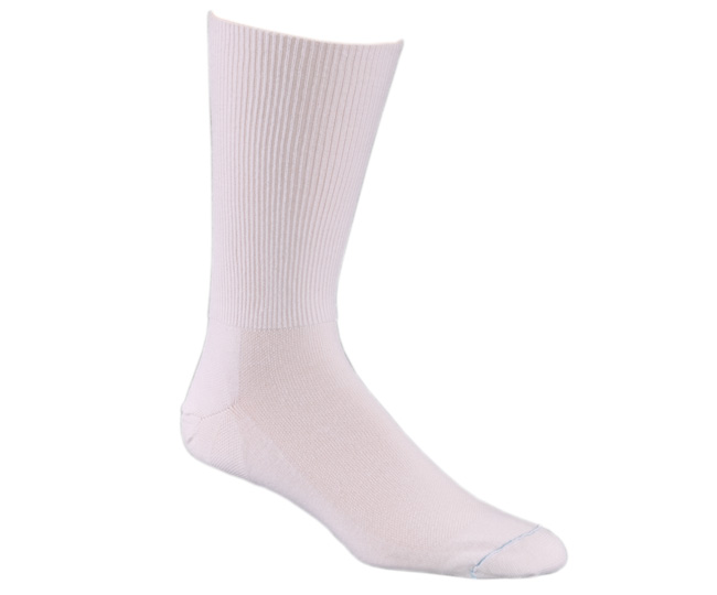 White Polypro Blend Odor Free Medical Socks